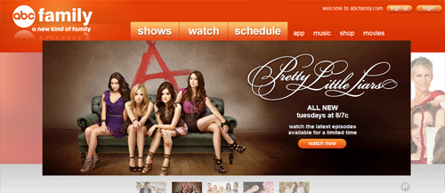 ABC Family website