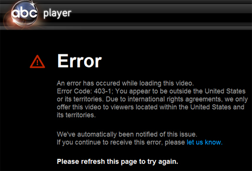 ABC IP blocked